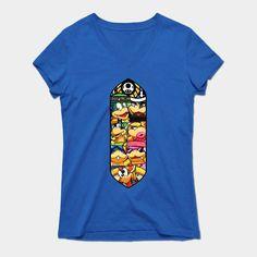 B Jr Z Koopalings Womens V-Neck T-Shirt