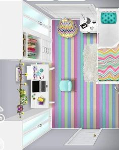 Casas The Sims Freeplay, Sims Freeplay Houses, Sims Free Play, Preteen Bedroom, Sims House Plans, Sims House Design, Sims Building, Sims Ideas, Minecraft Designs