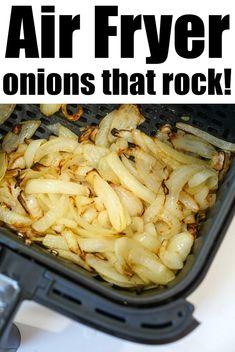 Air Fryer Oven Recipes, Air Frier Recipes, Air Fryer Dinner Recipes, Side Dish Recipes, Side Dishes, Food Dishes, Cooks Air Fryer, Onion Recipes, Soup Recipes