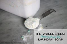 The World's Best Homemade Laundry Soap