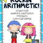 """Give your students extra practice with their double digit addition and subtraction problems (with regrouping)  by using this """"Rockin' Arithmetic"""" u..."""