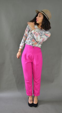 Pleated Pants in Pink | Jasika Nicole