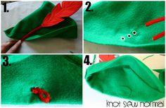 FREE Peter Pan hat sewing pattern … | peter pa…