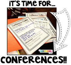 The Teacher Talk: Parent - Teacher Conference Prep! Teaching Second Grade, First Year Teaching, Teaching Ideas, Teaching Tools, Teacher Blogs, Teacher Hacks, Teacher Stuff, Classroom Organisation, Classroom Management