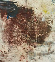 "Oscar Murillo . Untitled (Drawings off the wall series)"", 2011, oil stick and spray on canvas, 170 X 200 cm"