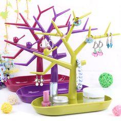 Multifuncional pássaro ramo de árvore forma prateleira de exposição de jóias brinco titular pulseira stand organizador colar anel displays de rack em Jóias Embalagens & Display de Jóias & Acessórios no AliExpress.com   Alibaba Group