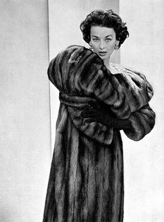 Dorian Leigh wearing Maurice Kotler, 1958.  Photograph by Georges Saad.