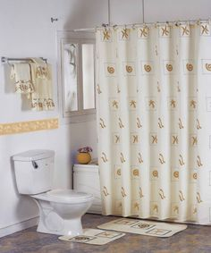 Cool Modern Bathroom Curtain Ideas Mixed With Stainless Steel Towel Hanger  And Rectangle Doormat