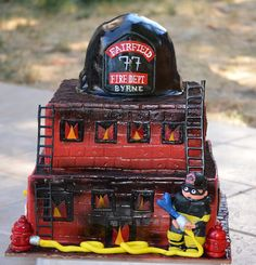 Traylor Made Treats: Tier Cakes Retirement Decorations, Retirement Cakes, Retirement Parties, Firefighter Birthday, Firefighter Love, Sweets Cake, Cupcake Cakes, Cupcakes, Fire Engine Cake