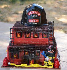 Fire fighter retirement cake
