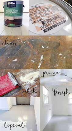 How to paint a damaged wood floor. Ways to increase value of a rental property.