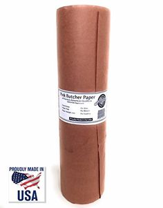 "Pink Butcher Kraft Paper Roll – 18"" x 175' + FREE eBook 