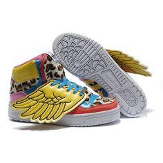 JS Men's adidas Originals Jeremy Scott Wings Colorful Leopard Shoes