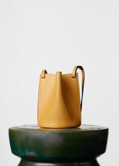 Mini Pinched Bag in Natural Calfskin - Winter | CÉLINE