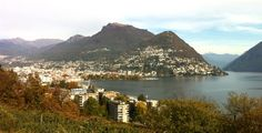 View over Lugano Lugano, River, Mountains, Nature, Outdoor, Outdoors, Naturaleza, Nature Illustration, Outdoor Living