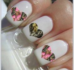Looks cool but I think it needs a little more color Farm Animal Nails, Animal Nail Art, Camouflage Nails, Camo Nails, Camouflage Wedding, Camo Wedding, Wedding Nails, Garra, Country Girl Nails