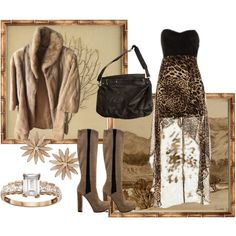 Looking Hot in the Cold by gabriele-bernhard on Polyvore featuring GUESS, Roxy, Emotions, R.J. Graziano, Campbell's Melange, Mirror Image Home and leopardprintedoutfits