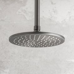 Rogerseller Strata Shower Rose in Natural Elements Graphite. A simple and timeless piece, the Strata Shower Rose by Rogerseller provides a wide, voluminous shower experience from an elegantly thin, subtle design. Natural Elements - Inspired by Nature. Ceiling Shower Head, Shower Rose, House On A Hill, Bathroom Fixtures, Bathrooms, Laundry In Bathroom, Bathroom Interior Design, Shower Heads, Wall