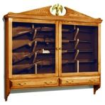 R-ubild646 - Gun Cabinet Vintage Woodworking Plan - Woodworkersworkshop® Online…