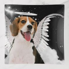 Beagle Dog Angel with Wings on a Cloud Trinket Trays - animal gift ideas animals and pets diy customize Beagle Dog, Diy Stuffed Animals, Pet Gifts, Angel Wings, Custom Art, Trays, Animals And Pets, Clouds, Gift Ideas