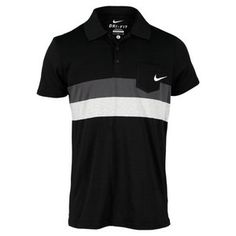 Nike Men's Stripe Jersey Tennis Polo. Great pick for your league or club championship night match.