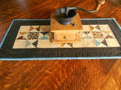 Quilted Table Runner/ Scrap Ohio Star Pattern by RubysQuiltShop