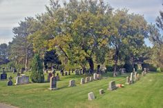 The town of Espanola's cemetery, with many of my relatives' tombstones in the middle distance (photo: Dave Melnychuk)