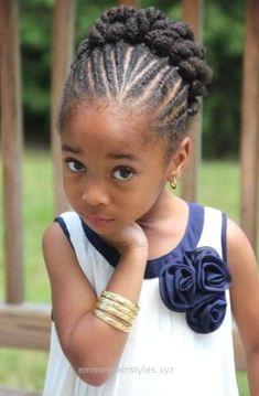 Peinado Para Ninas De Pelo Afro Flat Twist Y Trenzas Holandesas