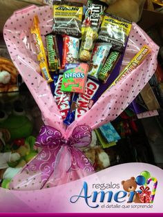#regalos Amer. #envíos a domicilio. Racimo de #dulces y #chocolates en #CDMX 55246977
