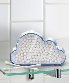 Look at this Cloud Catcher Cotton Swab Holder on #zulily today!