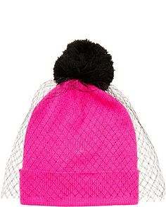 70c97c12cc5 BLUSHER VEIL BEANIE  Pair it with a bold lip and a tee dress! Betsey