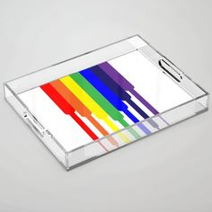 Rainbow descending Acrylic Tray by laec Color Pop, Tray, Rainbow, Store, Rain Bow, Colour Pop, Rainbows, Storage, Business