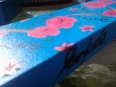 Painting for my lil sisters wall! Pink cherry blossoms.