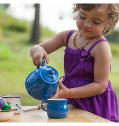 Nova Natural Toys + Crafts - tea set (wish this wasn't so pricey! it's the perfect kid tea set.)
