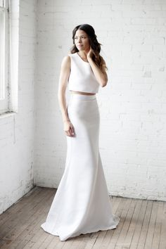 Now trending: two-piece wedding dresses! http://www.stylemepretty.com/collection/2829/