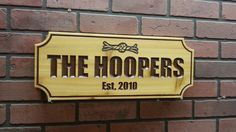 Custom wood signs can really brighten up a business or a household, offering advertising and style almost effortlessly. House Plaques, Wooden Cottage, Cottage Signs, Address Plaque, Custom Wood Signs, Home Signs, Tree Branches, Tuscany, Cnc