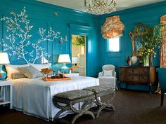 urquoise Room Decorations | Looking for some cool DIY room decor ideas in say, the color turquoise? You have found them! We love aqua and turquoise, too!