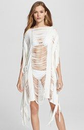 Herve Leger Fringe Caftan Cover-Up