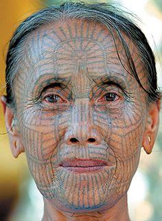 Tattoo face - Portrait