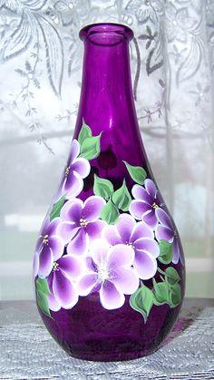 Magenta Vase Hand Painted by BonnysBoutique on Etsy, $10.00