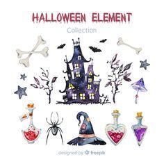 Halloween Vector, Cute Halloween, Watercolor Food, Watercolour, Learn Art, Games For Kids, Food Art, Vector Free, Illustration Art