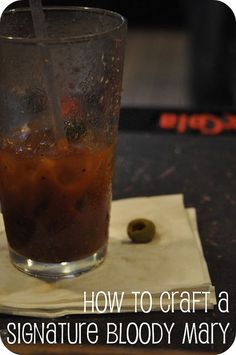 The Bitter End Bloody Mary = 1/2 tsp black pepper + 1 heaping tsp horseradish + 1/4 tsp sriracha + 1/8 tsp wasabi powder + 2 tsp worchestire + 1/2 tsp celery salt + juice of 1/4 lime + 1-1.5 cups of V8 + 1/5 shots Vodka + 2 mini dill pickles + 3 olives