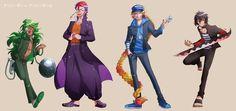 Nico, Rock, Uno, and Jyugo from Nanbaka
