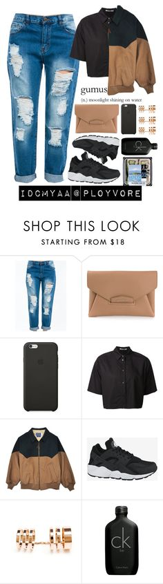 """Some of ya'll need to fwm like fr"" by idcmyaa ❤ liked on Polyvore featuring Givenchy, Black Apple, T By Alexander Wang, NIKE, Repossi and Calvin Klein"