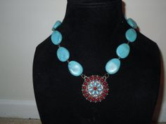 TURQUOISE & SILVER BEADED Tribal /  Native by MarinaDelReyVintage, $19.95