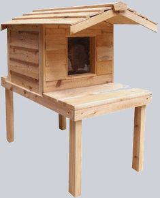 Insulated Cat House with Lounging Deck for Cats Living Outdoor - Outdoor Cat House with Platform and Extended Roof - Insulated Cat House, Heated Outdoor Cat House, Outdoor Cat Shelter, Outdoor Cats, Feral Cat House, Feral Cats, Furniture Scratches, Cat Furniture, Outside Cat House