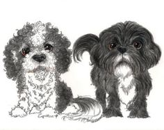 Cute pet caricatures of your furry kids done from photos Please choose the amount of subjects when ordering PLEASE NOTE even though the listing says pets you can include people (for example two people and three pets order a five pet) This listing shows recent orders that have been completed  Once you have purchased the listing please send me the photos of your furry kids to caricaturesbydeb@comcast.net good clear close up photos that show clearly the marking and coloring of the animals to be…