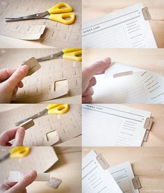 d.i.y tabs-- so cute! Brought to you by Shoplet UK- everything for your business.