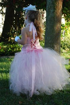 Pink Flower Girl Dress TuTu Tulle Couture Skirt by MenasBowtique, $85.00