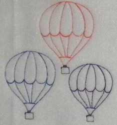 Simple hot air balloons to embroider